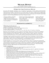 Cio Chief Information Officer Resume Cio Cover Letter Ideas