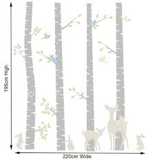 birch tree wall stickers