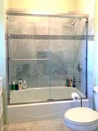 bathtub glass door sliding repair shower curtain or amusing bat