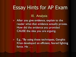essay hints for ap exam the question carefully mark it up  4 essay