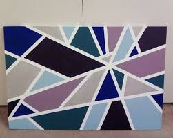 Stretched canvas + Masking tape + Acrylic paint coats per color) = Easy wall  art for my master bedroom.