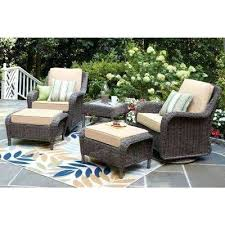 wicker swivel rocking chair bay spring haven brown all weather wicker patio swivel rocking chair with