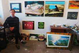 oval office paintings. John Player Photographed In His Montreal Studio April 2016. \u201cShelter\u201d Painting Courtesy Oval Office Paintings