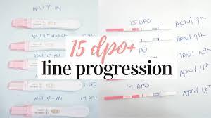 Pregnancy Test Line Progression 2019 No Positive Until 15 Dpo