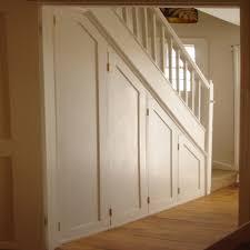 under stairs lighting. Accessories, Elegaant Cream Stained Wooden Understairs Shoe Storage Minimalist Pillars Handling Stairs Light Under Lighting A