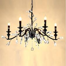wrought iron crystal chandelier light handmade bedroom home rustic regarding iron and crystal chandelier remodel black