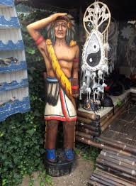 hand carved indians sculpture wooden 2 04 m