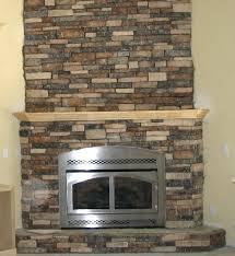 smlf faux dry stack stone fireplace fabricated corner stacked electric pictures