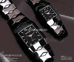 2ppcs sinobi fashion trendy cool black quartz luxury lover watch supplier