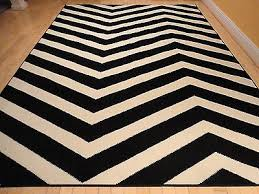 1 of 5free large indoor outdoor 8x10 courtyard black white zigzag area rug chevron rugs 5x8