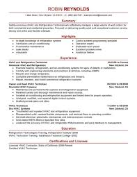 maintenance resume samples enchanting resume hvac maintenance engineer for your technician