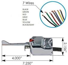 universal 7 wire chrome turn signal switch signal stat 901 uatparts Signal Stat 800 Wiring Diagram at Signal Stat Turn Signal Switch Wiring Diagram