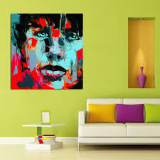 2017 100 handpainted modern abstract oil painting handsome man with blue eyes portraits picture on