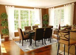 square area rug under dining table