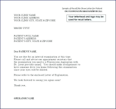 No Show Fee Letter Template To Patients Appointment