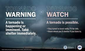 Severe thunderstorm, tornado warning ...