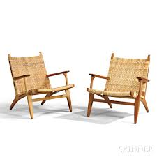 lounge chairs hans wegner. Pair Of Hans Wegner CH27 Lounge Chairs