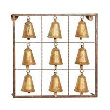 brass metal eclectic wall decor