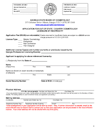 transfer cosmetology license to georgia