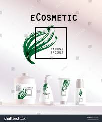 Cosmetic Label Design Template Vector Cosmetic Insignia Isolated On White Stock Vector