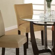 coaster 101492 gold ochre microfiber parson dining side chair set of 2