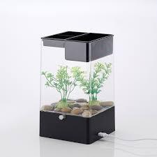 office desk fish tank. LED-Light-Square-USB-Interface-Aquarium-Ecological-Office- Office Desk Fish Tank EBay