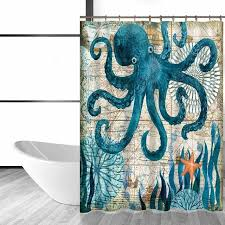 cool shower curtains. octopus shower curtain plus cool curtains burlap funny