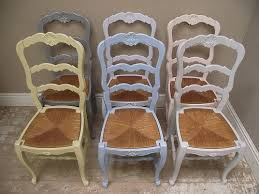 french dining chairs. Bright Vintage Provencal French Dining Chairs
