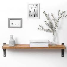 reclaimed wood and steel industrial style shelf storage organisers