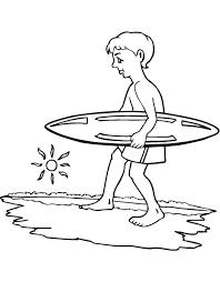 Stampa Disegno Di Surf E Mare Da Colorare