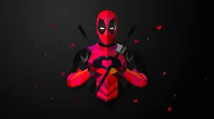 deadpool wallpaper heart hd