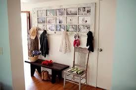old door turned into picture frame coat hanger
