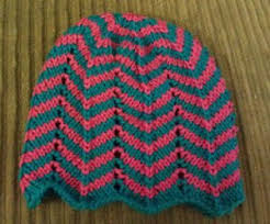 Chevron Knitting Pattern Beauteous 48 Free Chevron Stitch Knitting Patterns AllFreeKnitting