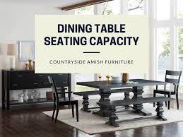 dining table size seating capacity