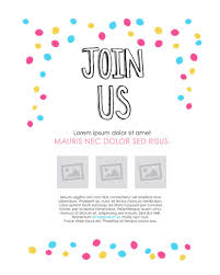 E Invites For Birthday 006 Template Ideas Join Us Confetti Free Email Staggering