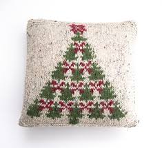 Fair Isle Christmas Tree Charts Cushion Cover Pattern By Sandra Nesbitt
