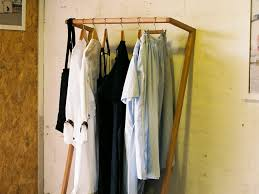 Leaning Clothes Rack by Heimur  Leaning Clothes Rack Hanging