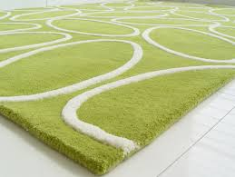 image of how to clean a wool rug green