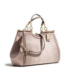 Lyst - Coach Madison Pinnacle Carrie in Lizard Embossed Leather in ...