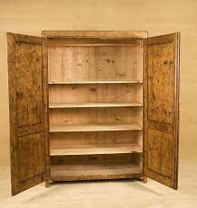 shelves inside closet rustic stained pine wardrobe cabinet with 5 shelf inside