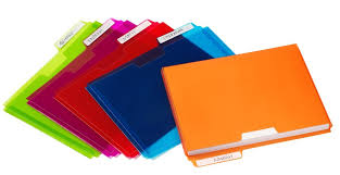 Poly File Folder Pockets Assorted