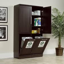 Sauder Kitchen Furniture Sauder 411309 Homeplus Dakota Oak Storage Cabinet Set