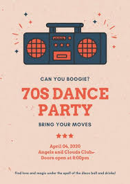 Part Flyer Red And Blue Dance Party Flyer Templates By Canva