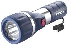 Туристический <b>фонарь Varta</b> Daylight 2D <b>1W</b> LED серый/синий, <b>1</b> ...