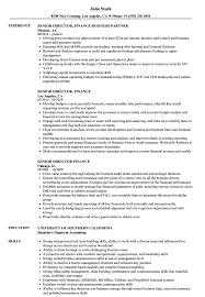 Senior Director Finance Resume Samples Velvet Jobs