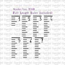 Growth Chart Stencil Designs Ruler Growth Chart Svg Growth Ruler Stencil Files Inches Dfx 6 Font Files Included Measuring Stick Floor Cutting Files For A Growth Chart
