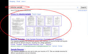 A basic search for the two-word keyword phrase  resume sample: