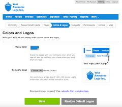 Freshbooks Free Invoice How Do I Customize My Colors And Logos FreshBooks 2