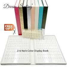Fake Nail Type Chart False Nail Color Book Color Display Nail Art Gel Polish