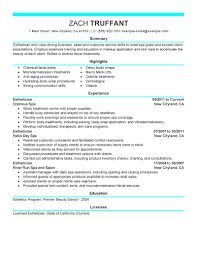 Resume Tips for Esthetician